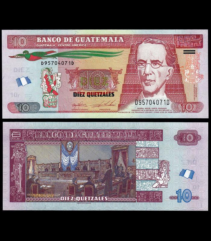 Pick 123d UNC GUATEMALA 10 Quetzales 2013