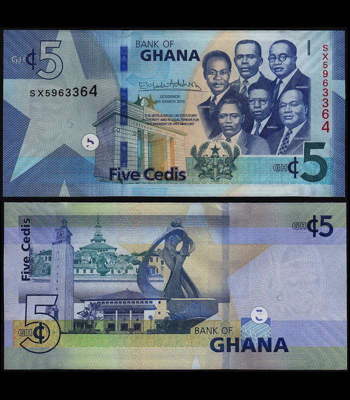 Ghana 1 Cedi p-new 2019 UNC Banknote